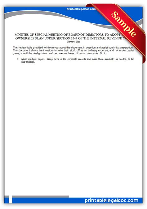 code section 1244 free printable 1244 stock approval by board form generic