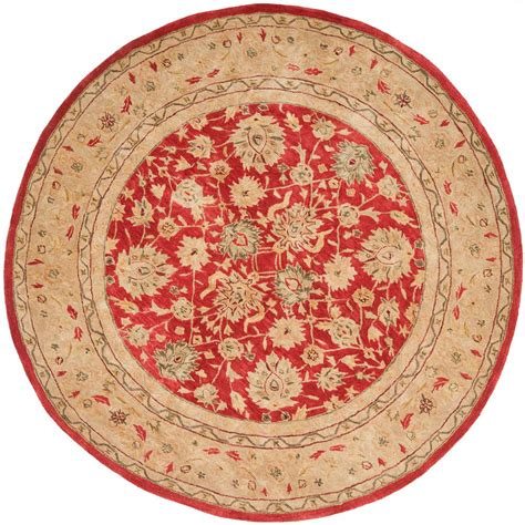Safavieh Anatolia Red Ivory 6 Ft X 6 Ft Round Area Rug 6 Foot Area Rugs