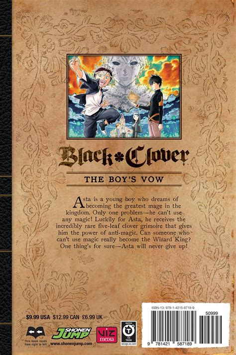 kingdoms of broken boy of dreams volume 1 books black clover volume 1