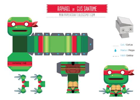 Mini Paper Craft - mini papertoy raphael de gus santome paper toys and