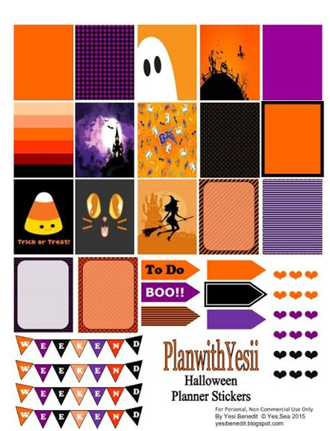 free printable halloween planner stickers pinterest the world s catalog of ideas