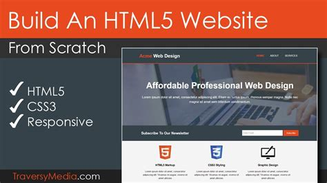 Build An Html5 Website With A Responsive Layout Youtube Interactive Html5 Website Templates