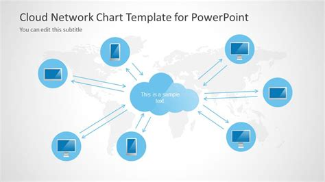 cloud network template for powerpoint slidemodel