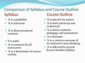 syllabus amp course outline