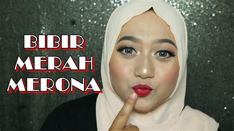 Lydias Warna No 0487 tutorial makeup lipstik merah mugeek vidalondon