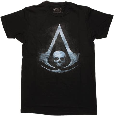 Assassin S Creed 4 T Shirt assassins creed 4 black flag symbol t shirt sheer