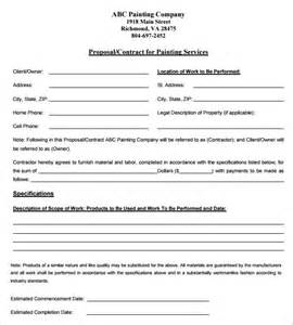 How To Write A Painting Contract by 11 Contract Templates Free Word Pdf Documents