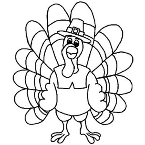 silly hat coloring page pages funny thanksgiving day turkey wearing pilgrim hat