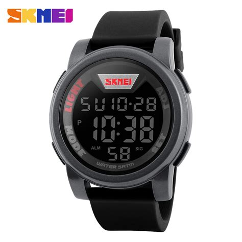 Jam Tangan Sport For Unisex Favorite Digital Black Kw led digital watches for www imgkid the image