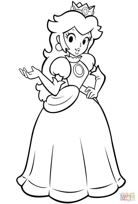 princess peach clipart black  white pencil
