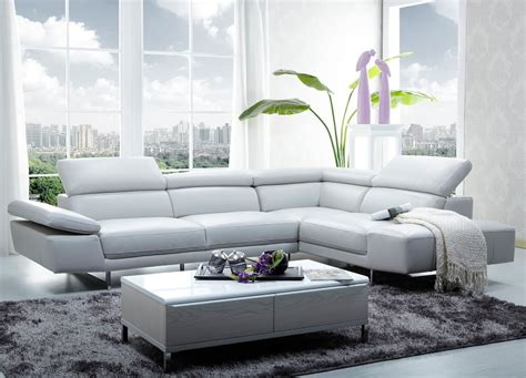 Leather Modern by White Modern Leather Sectional Stores Chicago Furniture