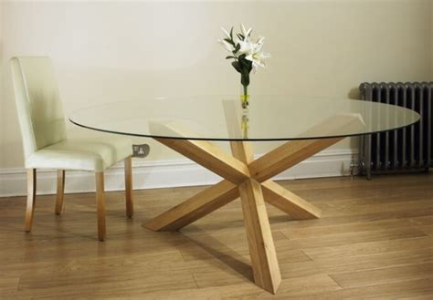 oak pedestal glass 4 6 dining table for 8 chairs ebay