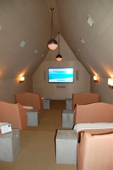 Small Attic Home Theater Coastal Living S Ultimate House 2012 In Florida