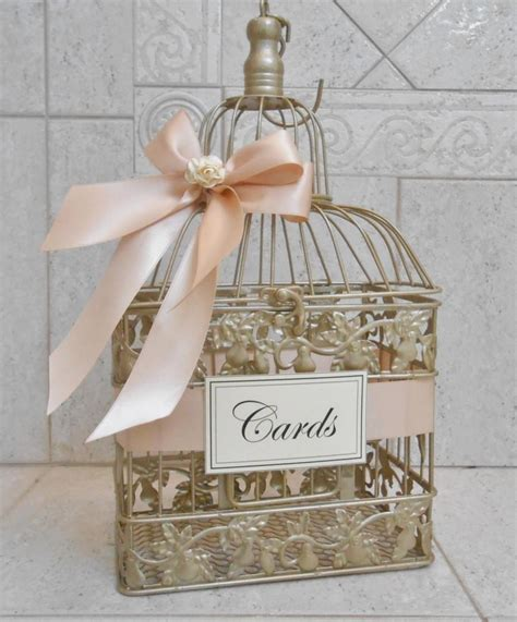 Wedding Card Box Birdcage by Small Chagne Gold And Blush Wedding Card Box Wedding