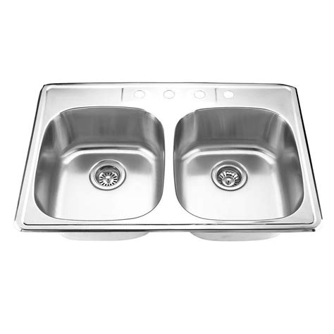 yosemite home decor sinks yosemite home decor drop in stainless steel 33 in 4 hole