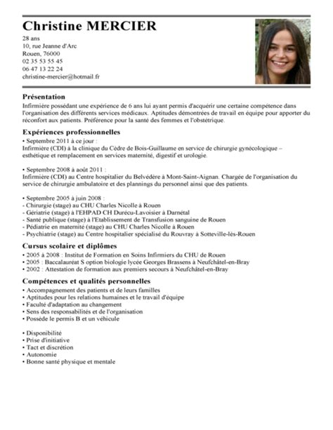 Exemple Lettre De Motivation Qualités Personnelles Cv Infirmi 232 Re Autoris 233 E Exemple Cv Infirmi 232 Re Autoris 233 E