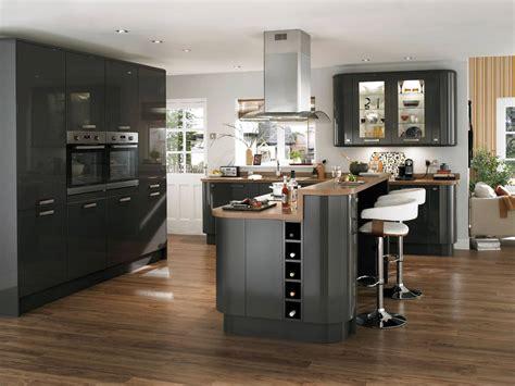 mod鑞e de cuisine avec ilot central ilot central cuisine contemporaine banc cuisine design