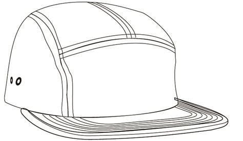 Caps Topi E London Hat Template