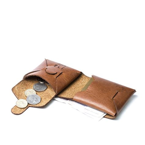 Origami Leather Wallet - personalised origami leather wallet with coin purse by