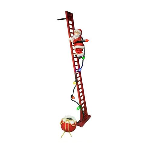 climbing santa ladder christmas decoration 24 best santa climbing ladder decoration images on ladders crafts and