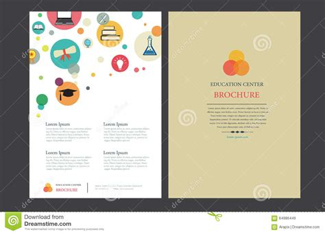 educational brochure templates 4 clear and best