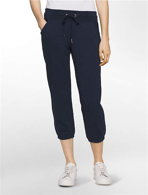 The Cropped Sweatpant calvin klein womens performance mixed media cropped