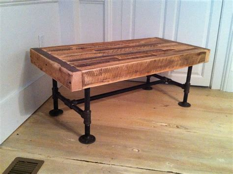 Wood Coffee Table With Metal Legs Industrial Wood Steel Coffee Table Reclaimed Barnwood With Industrial Pipe Legs The