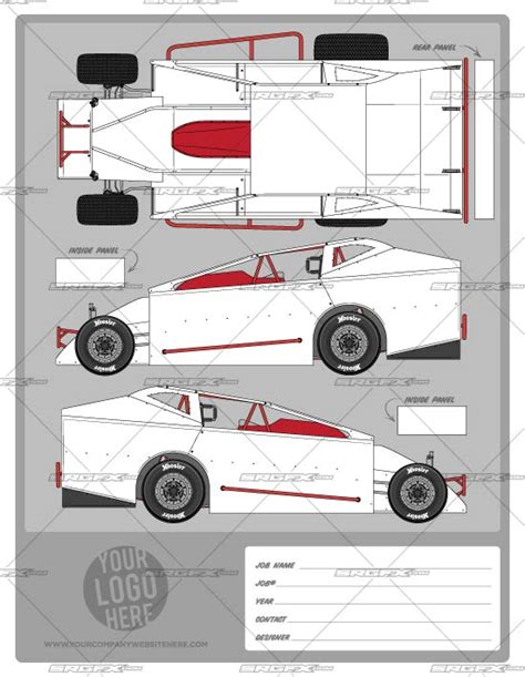 racing car template big block modified template school of racing graphics