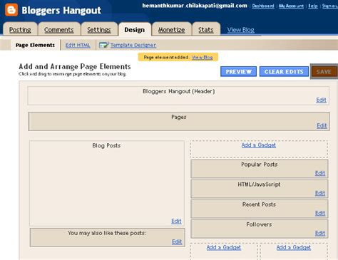 layout editor export how to add popular posts widget in blogger