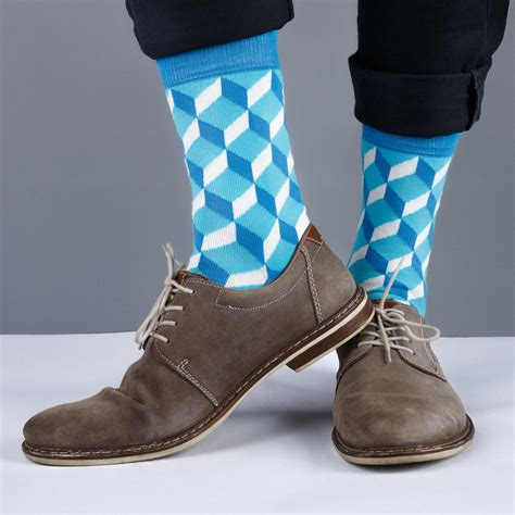 colorful s socks s socks blue cube cinnamon pattern socks