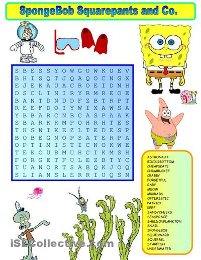 birthday gifts for word search puzzle book gift as birthday gifts for boyfriend or husband books wordsearch spongebob worksheet free esl printable