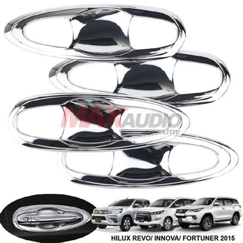 Door Check Arm Cover Kit Toyota Innova Fortuner Yaris Vios Etios Rus buy toyota innova hilux revo fortuner 2015 2017 chrome door handle inner bowl cover garnish