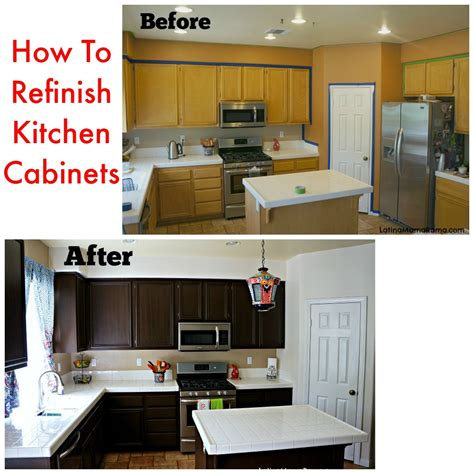 How To Refinish Kitchen Cabinets With Paint | how to refinish your kitchen cabinets latina mama rama