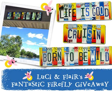 License Giveaway - personalized license plate sign giveaway creative gift ideas news at catching