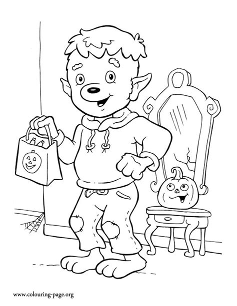 halloween wolf coloring pages halloween halloween werewolf coloring page