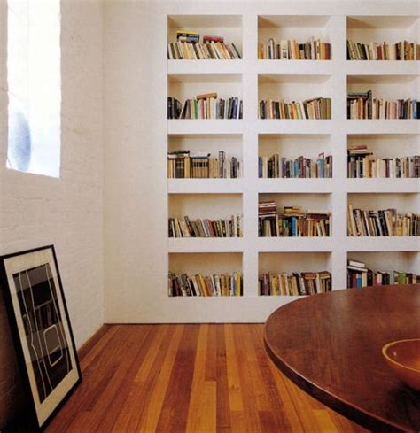recessed shelves books and bookshelves