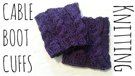 finger knit boot cuffs how to make cable boot cuffs simple easy pattern