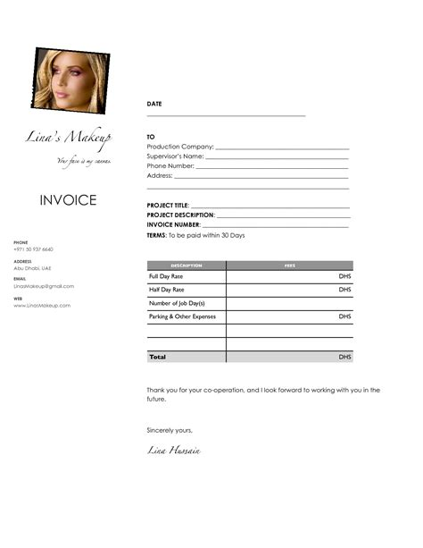 makeup invoice template makeup artist invoice template uk mugeek vidalondon