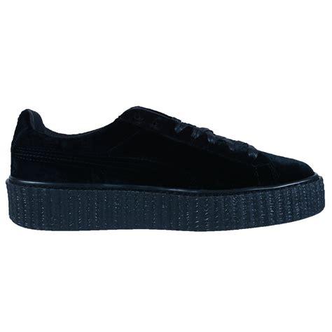 Sneakers Murah Rihana White Black by rihanna womens creeper velvet black purple gray fashion sneakers 364466
