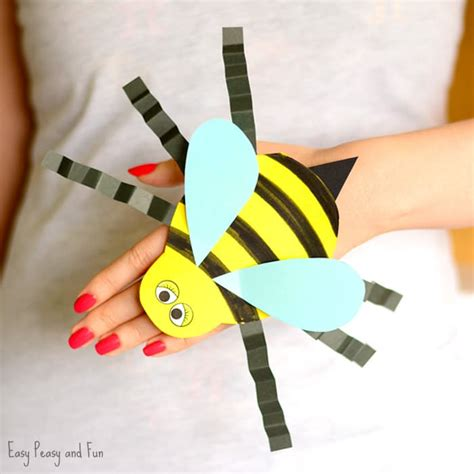 bee finger puppet template bee paper puppet template easy peasy and