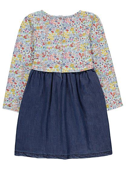 Set Denim Kid denim dress and bag set george at asda
