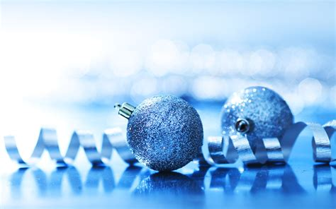 navy blue christmas balls and ribbon wallpaper