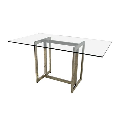 61 Elm Elm Hicks Glass Top Dining Table
