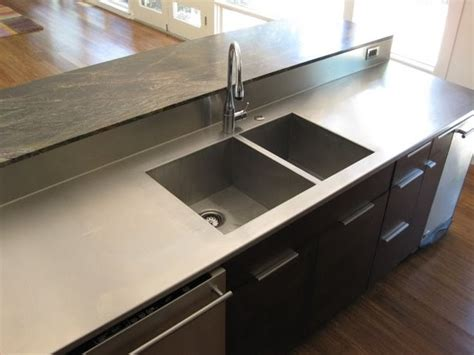 stainless countertop with sink c2 design home furnishings stainless steel countertop