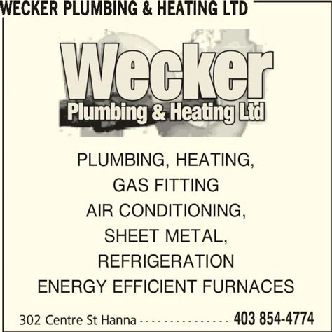 Energy Efficient Plumbing by Wecker Plumbing Heating Ltd Ab 302 Centre St