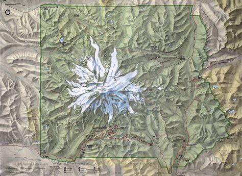 mt rainier national park map mount rainier muir snowfield august 2000 project