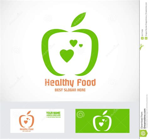 Apple Logo Biography | organic green apple logo stock vector image of card