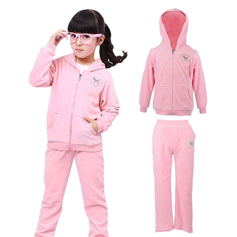 Wardrobe Brand Clothing by Clothing Sets Cotton Velvet Fashion Pink Sports Suit