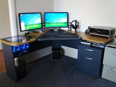 Best Computer Desk Gaming Best Computer Desk To Suit Coolest Office Desk