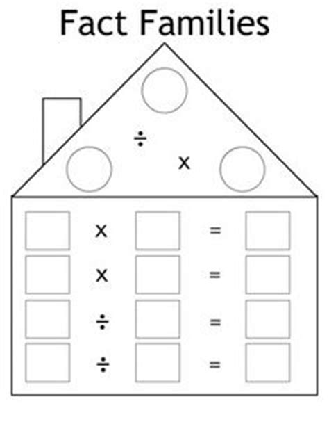 fact family house multiplication and division fact family flash cards math aids com pinterest them